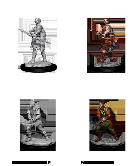 Wizkids D/&D Nolzurs Marvelous Miniatures Unpainted Miniatures Female Human Ranger Case